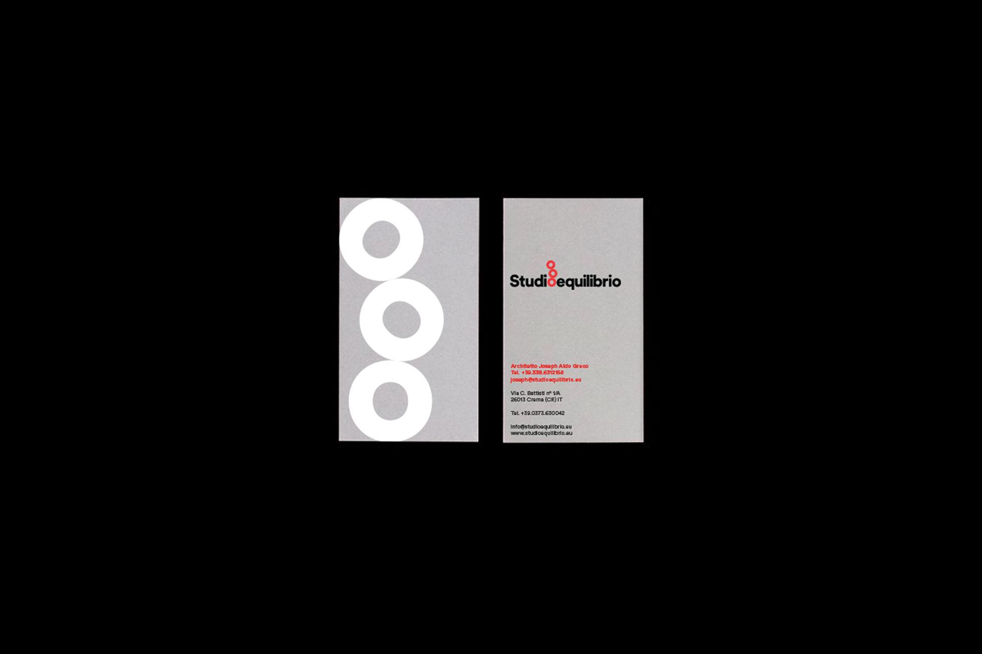 Biglietti da visita Studioequilibrio, graphic design a Crema