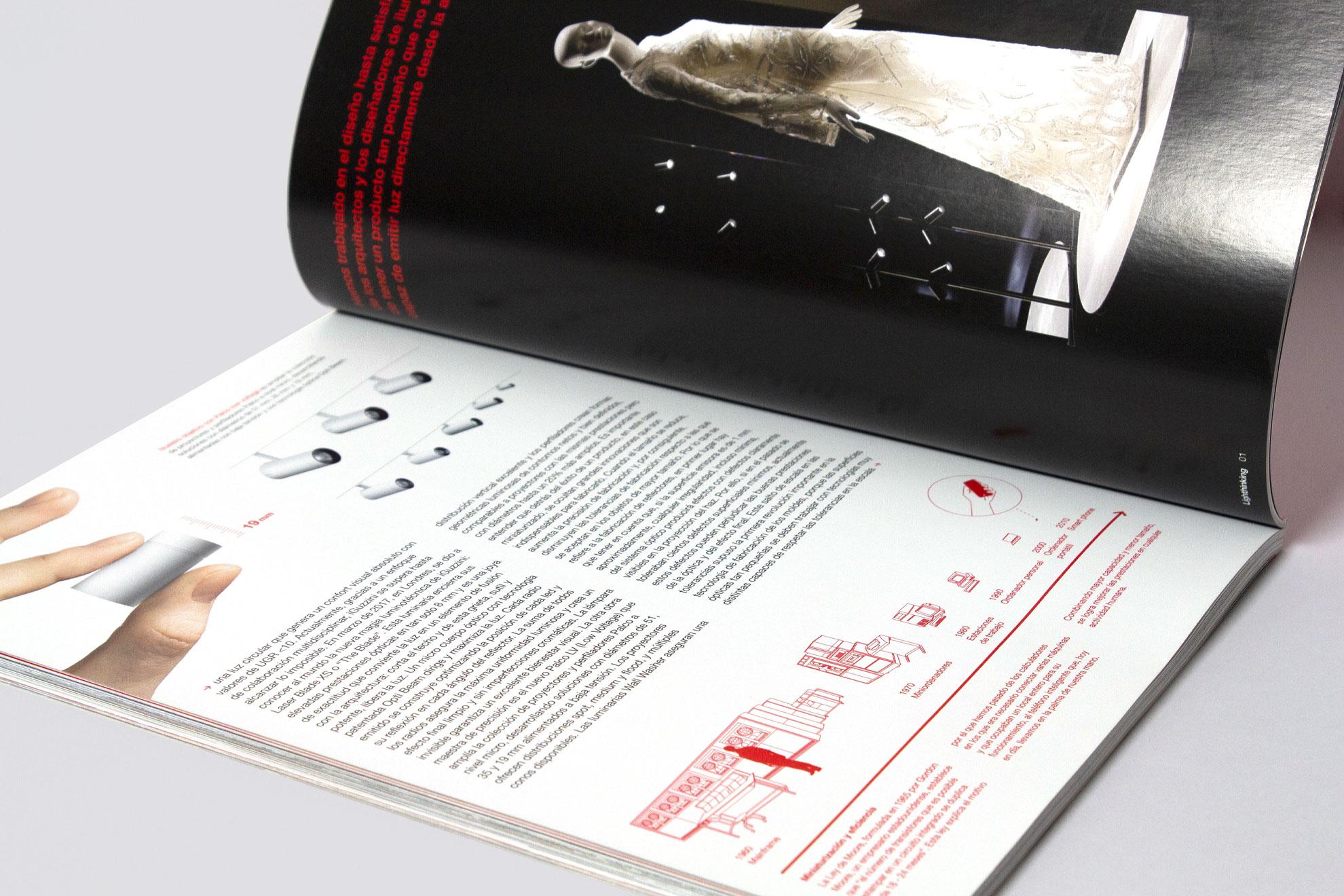 Interno Lighthinking, rivista aziendale iGuzzini